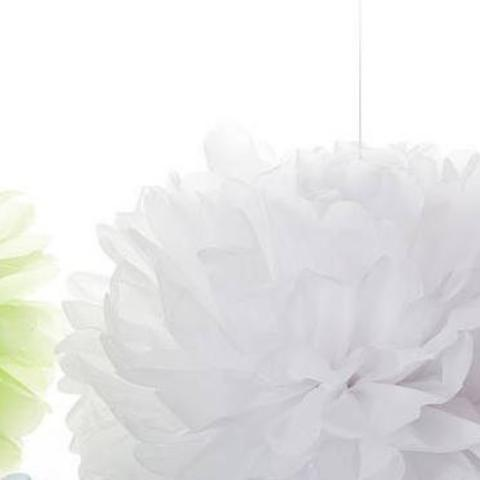 White tissue paper pom pom | Wedding Party Decorations