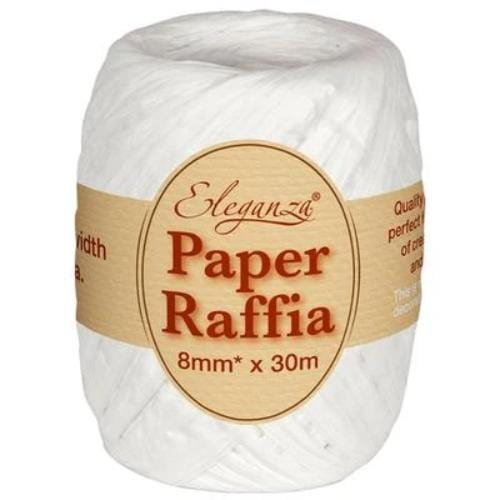White Paper Raffia | Eco Balloon Ribbon
