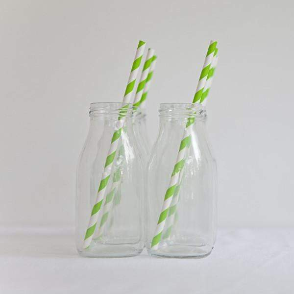 Paper Straws Lime Green (10 Pack)