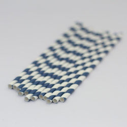 Paper Straws Navy Blue
