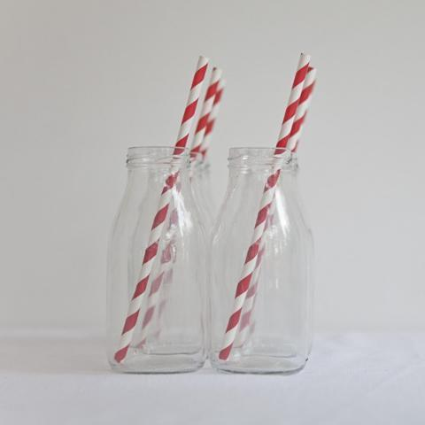 Red striped paper straws | Eco Friendly Straws