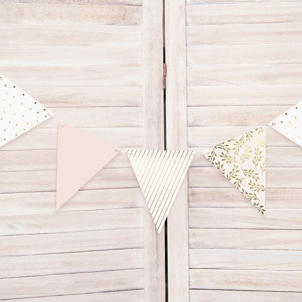 Party Bunting - Blush & Gold (2.1m)