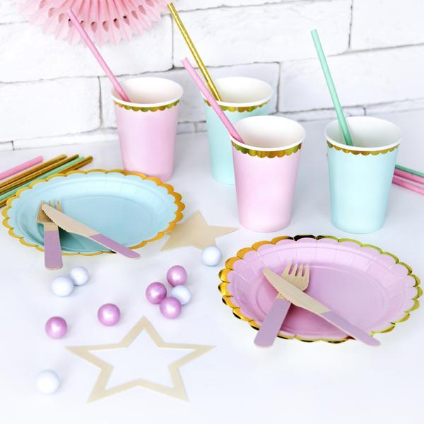 Mint Paper Cups for Kids parties