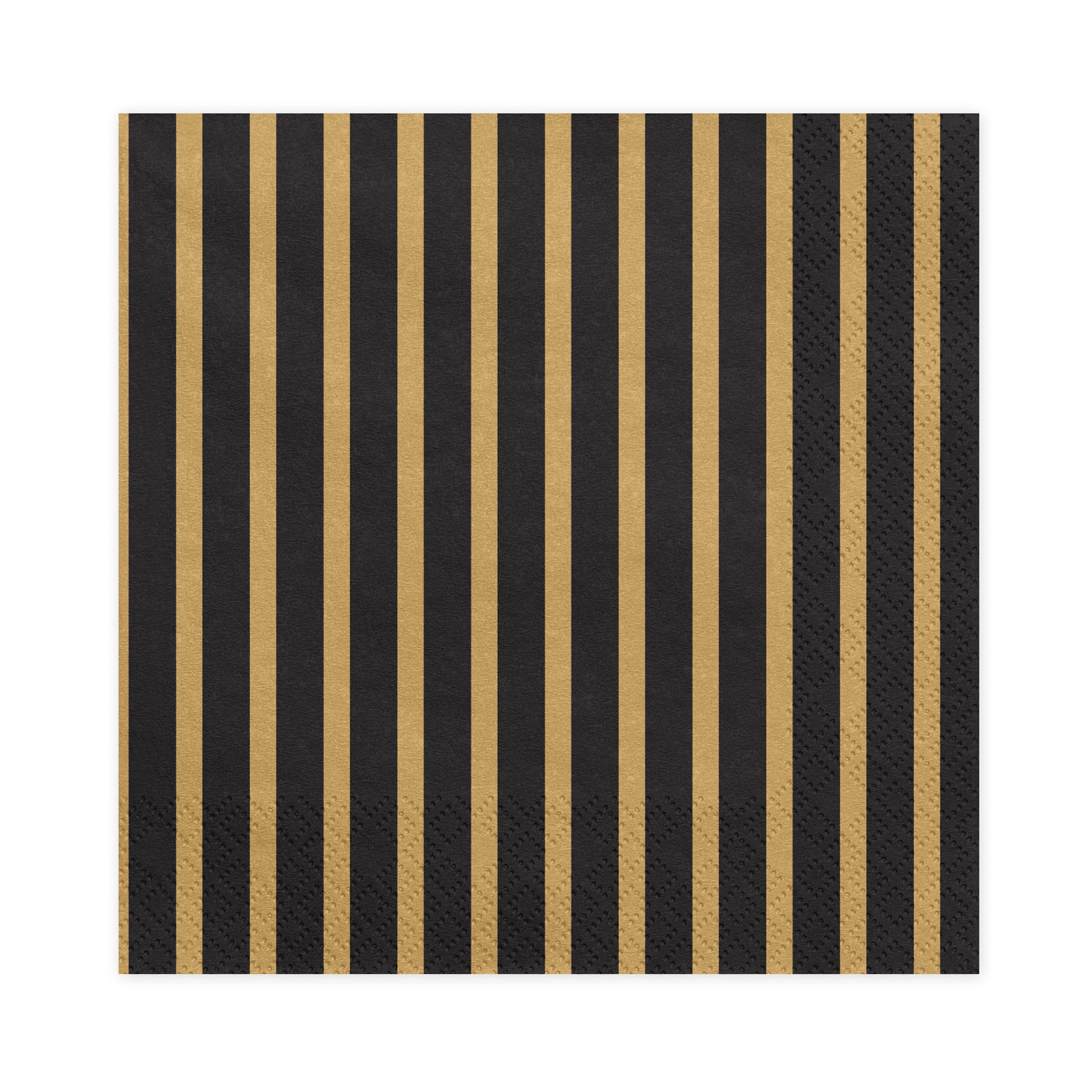 gold and Black Stripe Party Napkins | Party Deco