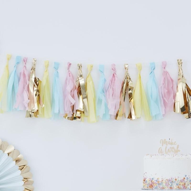 Pastel Tassel Garland | Party Garland | Ginger Ray | Pastel Party Decorations
