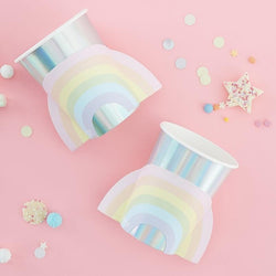 Pastel Iridescent Rainbow Cups (8 Pack)
