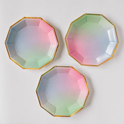 Pastel Ombre Canape Plates (8 pack)