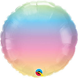 Pastel Ombre Round Foil Balloon 18""