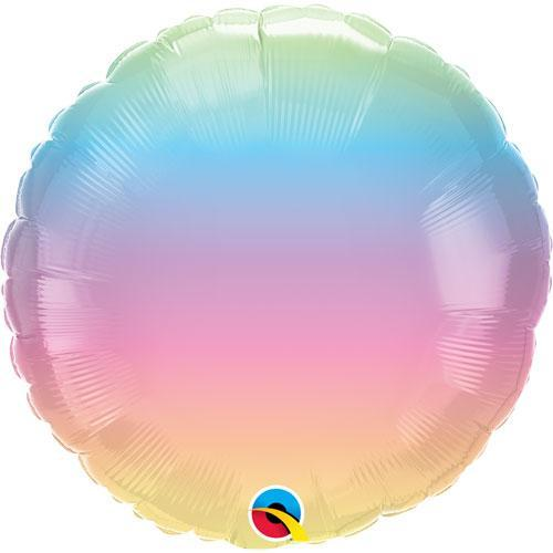 Pastel Ombre Round Foil Balloon 18