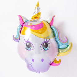 Pastel Unicorn Head Balloon 38""