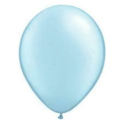 Pearl Light Blue Balloons (5 pack)
