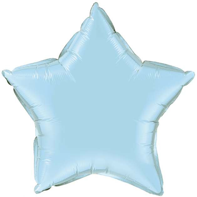 Pearl Blue Balloon Foil Star | Helium Balloons Online