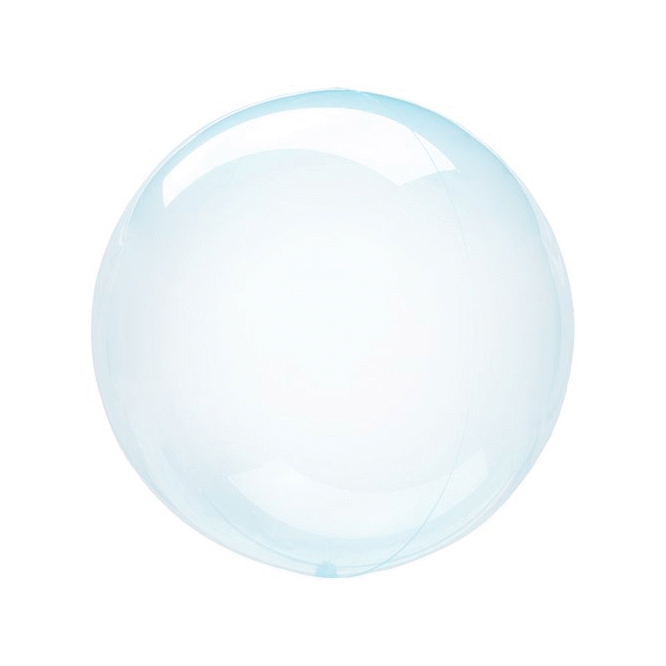 Crystal Clear Transparent Balloons Blue