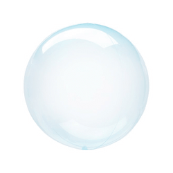 Petite Crystal Clearz Balloon - Blue 10""