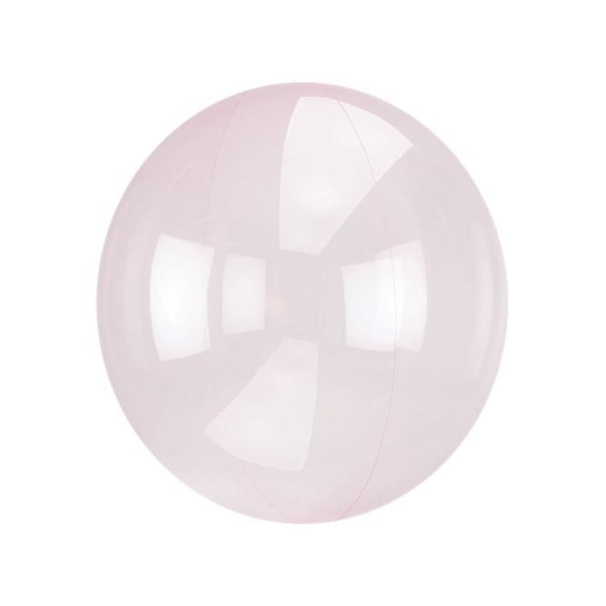 Petite Crystal Clearz Balloon - Pale Pink 10""