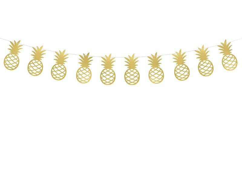 Pineapple Garland Gold