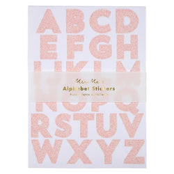 Pink and Gold Glittering Alphabet Stickers (10 Sticker sheets)