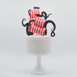 Pirate Party Cake Topper