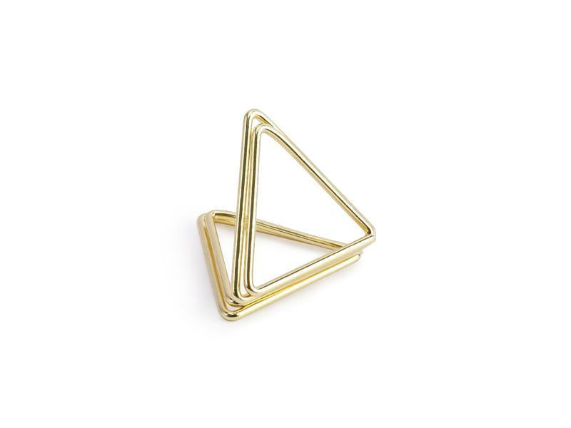 Simple Stylish Place Card Settings - Gold triangles