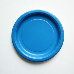 Plain Blue Little Plates (8 pack)