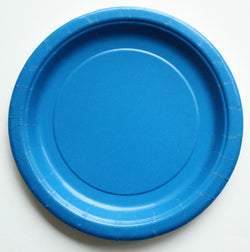 Plain Blue Paper Plates (8 pack)
