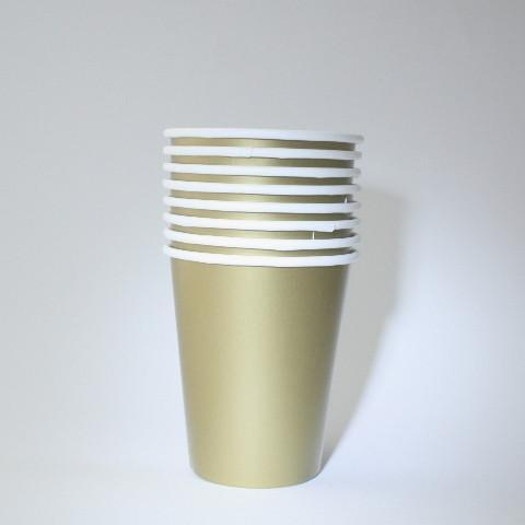 Gold Paper Cups (8 Pack)