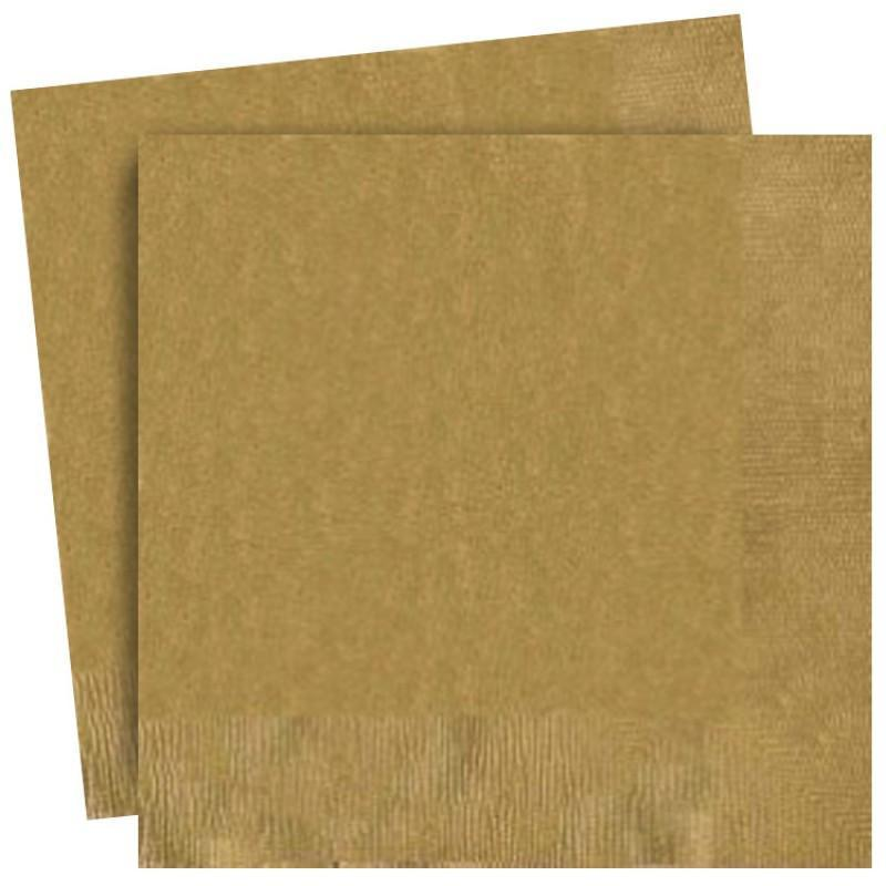 Plain Gold Party Napkins | Sylish Party Supplies UK
