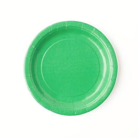 Plain Green Little Plates (8 pack)