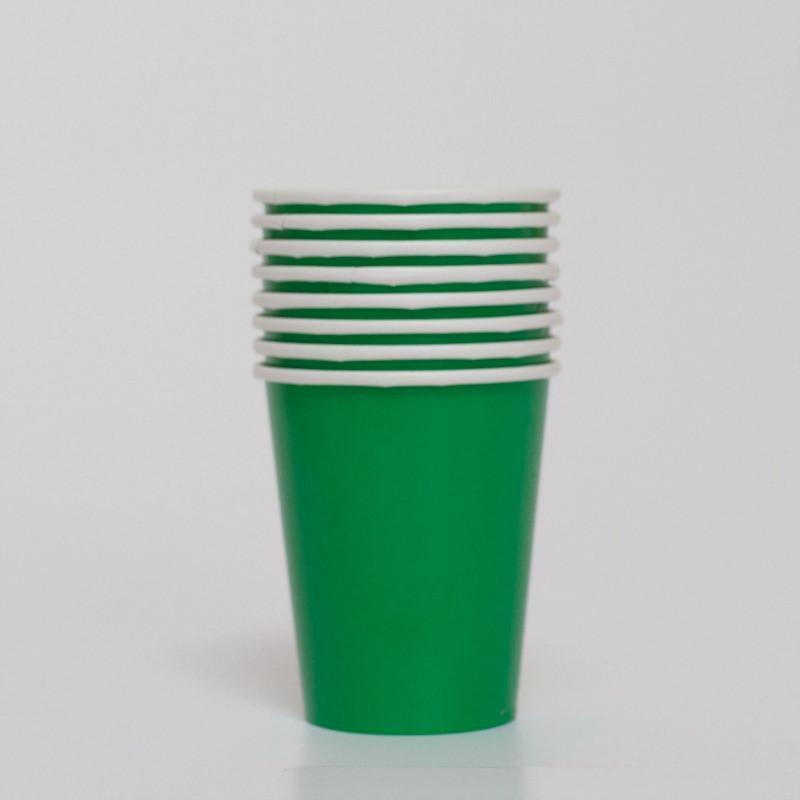Plain Green Paper Cups | Party Cups | Party Tableware