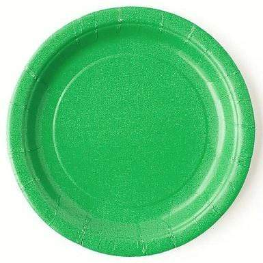 Plain Green Paper Plates (8 pack)