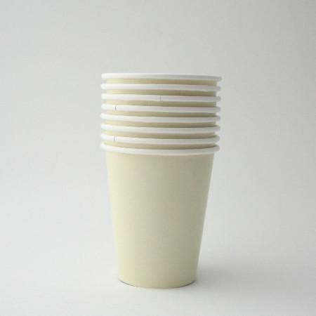 Plain Ivory Paper Cups (10 Pack)
