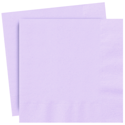 Plain Lilac Party Napkins