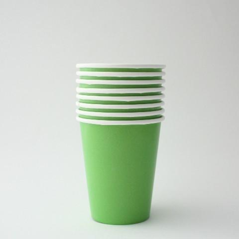 Lime Green Paper Party Cups | Green Plain Tableware