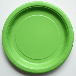 Plain Lime Green Paper Plates (8 pack)