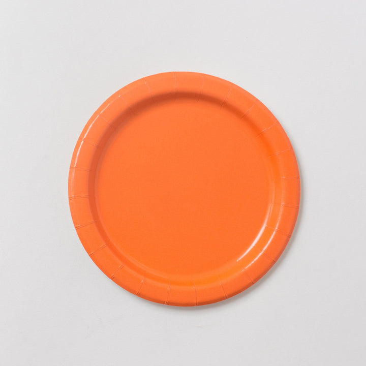 Plain Orange Little Plates (8 pack)