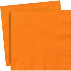 Plain Orange Party Napkins
