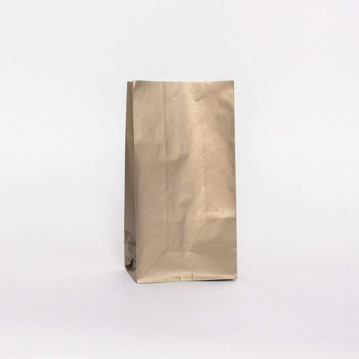 Plain Party Bags Gold (10 pack)