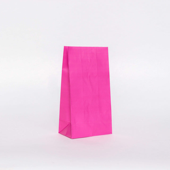 Plain Party Bags Hot Pink (12 Pack)