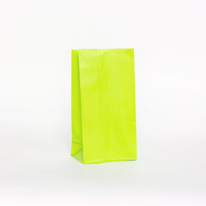 Plain Party Bags Lime Green (12 Pack)