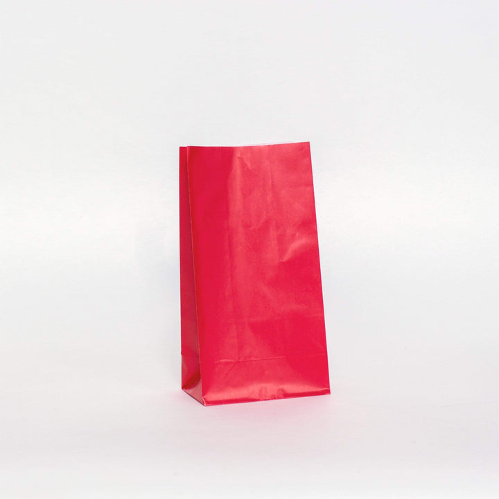 Plain Party Bags Red (12 Pack)