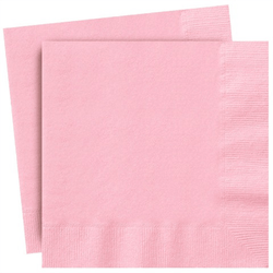 Plain Pastel Pink Party Napkins