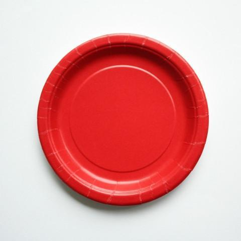 Red Party Plate