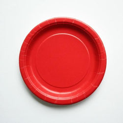 Plain Red Little Plates (8 pack)