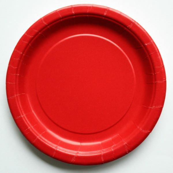 Plain Red Paper Plates (8 pack)
