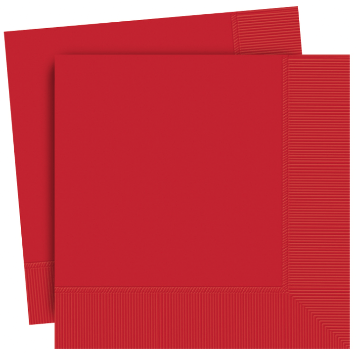 Plain Red Party Napkins