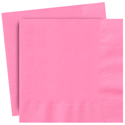 Plain Rose Pink Party Napkins