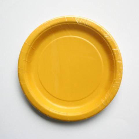 plain yellow tableware