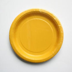 Plain Sunshine Yellow Little Plates (8 pack)
