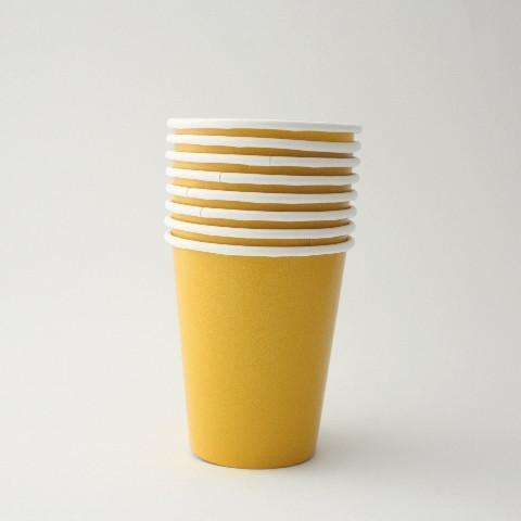 Plain Yellow Paper Party Cups