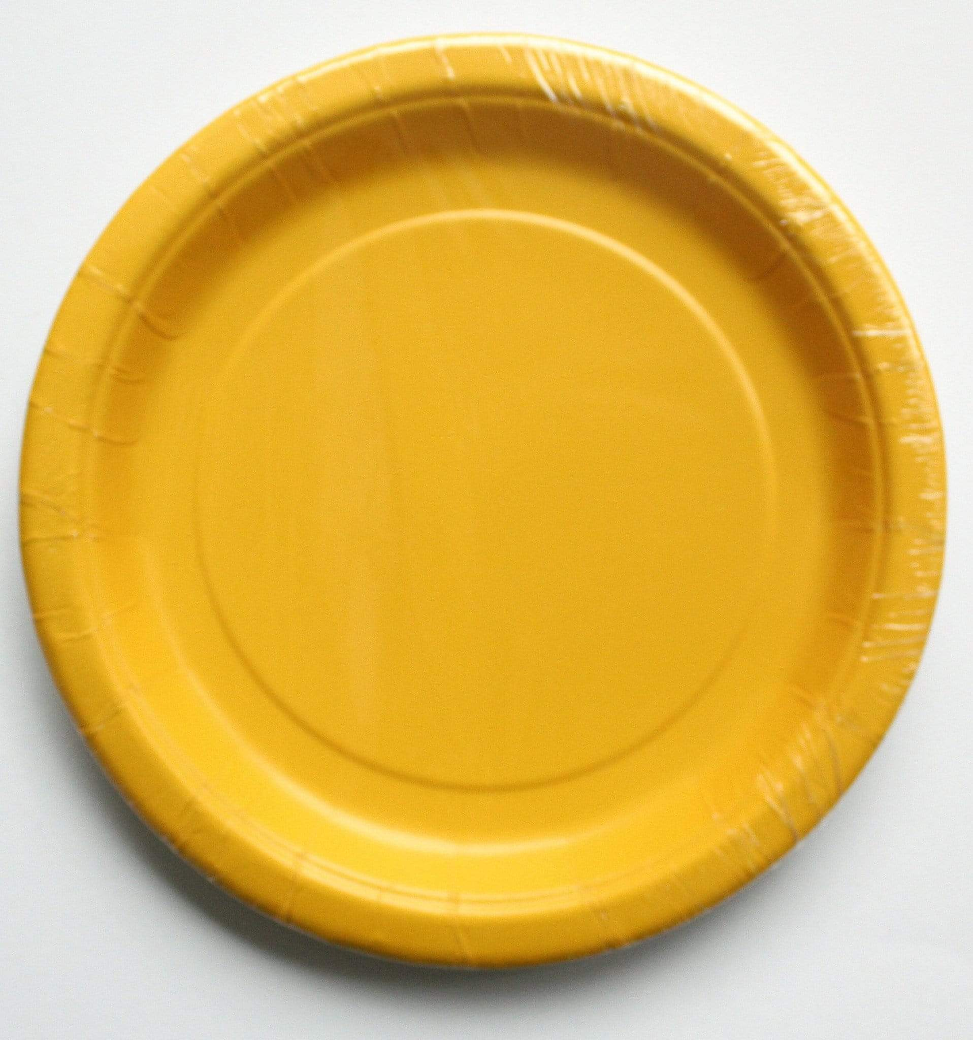 Plain Sunshine Yellow Plates (8 pack)